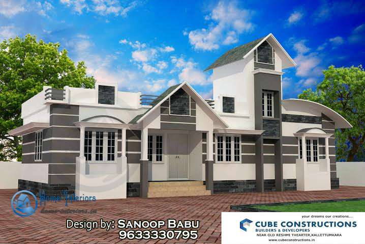 Square Feet Single Floor Kerala Home Designs