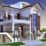 Square Feet Small Double Storied House Kerala Home Design