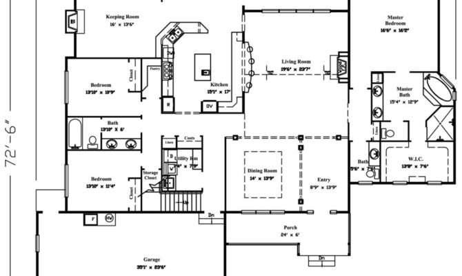 Square Feet Story House Plans Home Deco