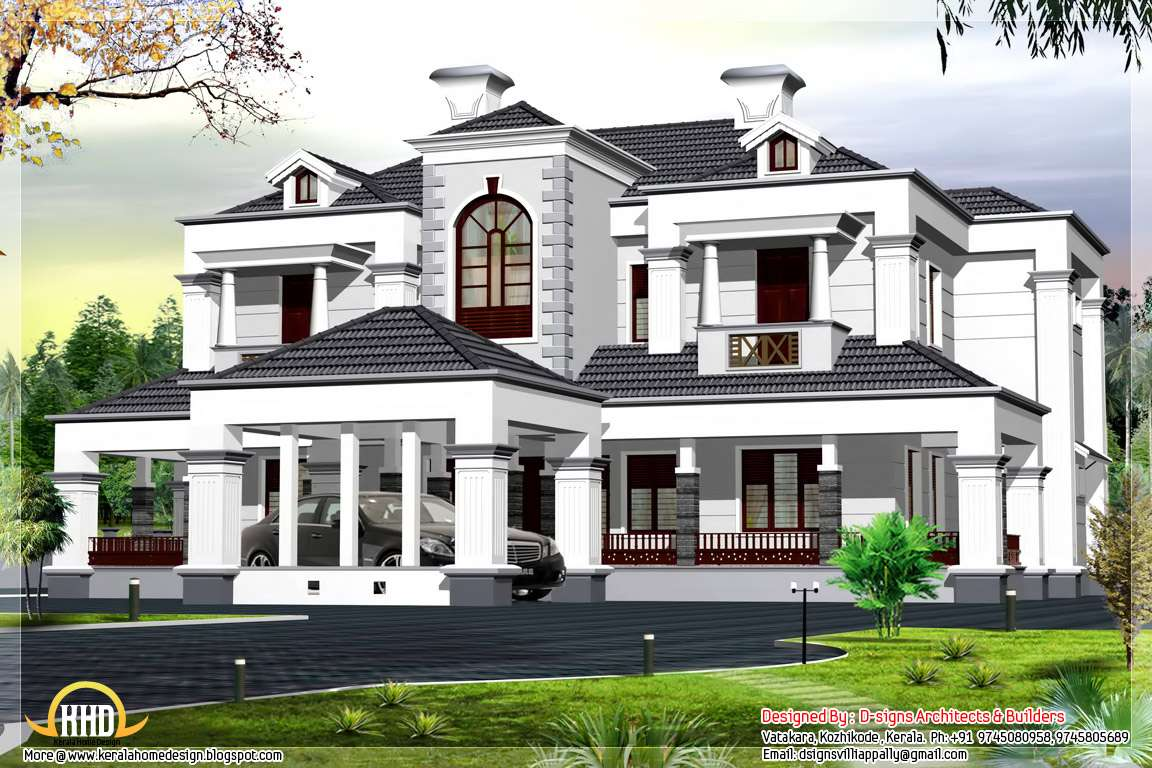 Square Feet Victorian Style Bhk Home Design