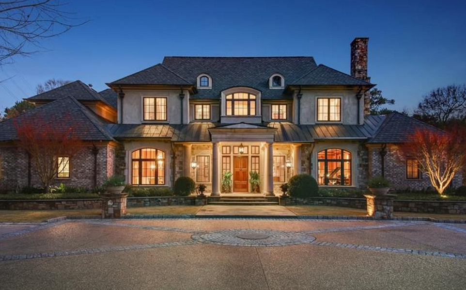 Square Foot Brick Stone Mansion Atlanta