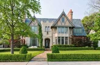 Square Foot Tudor Estate Highland Park Texas Listed