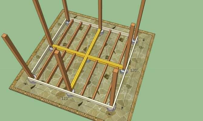 Square Gazebo Floor Plans