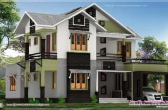 Square Meter Bedroom House Design Kerala Home Floor