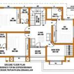 Squre Feet Home First Floor Plan Kerala India