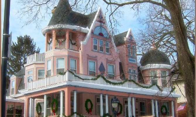 Stacy Shabby Shoppe Pretty Pink Victorian House