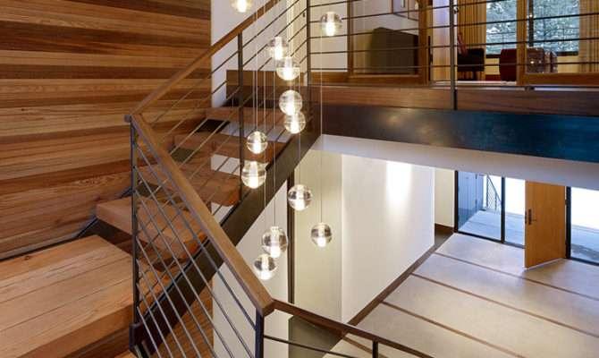 Stairwell Lighting Staircase Midcentury Banister