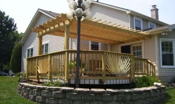Standing Deck Freestanding Plans Backyard Decks