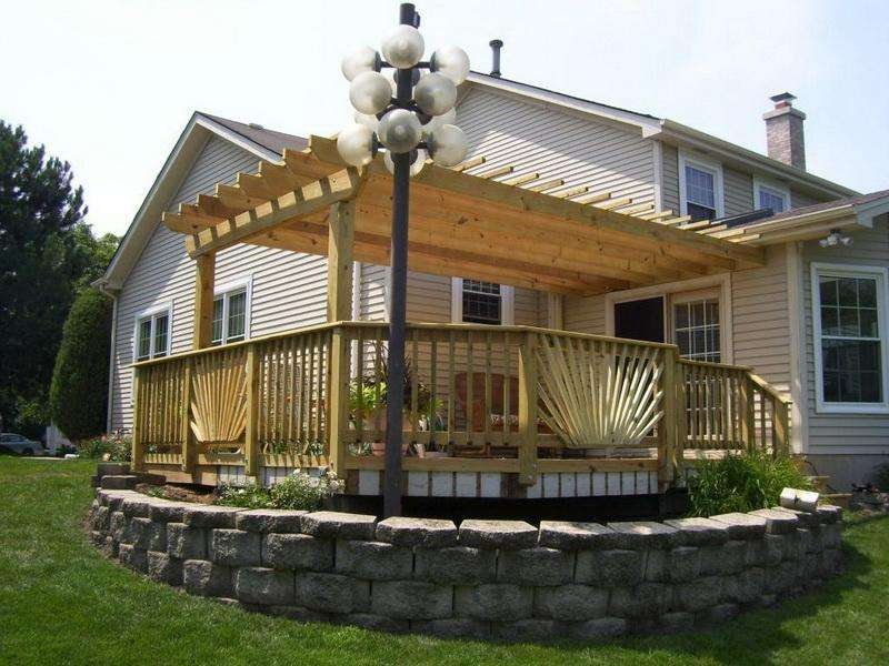 Standing Deck Freestanding Plans Backyard Decks