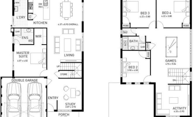Stanford Four Bed Two Storey Home Design Plunkett