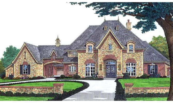 Stefano Luxury European Home Plan House Plans