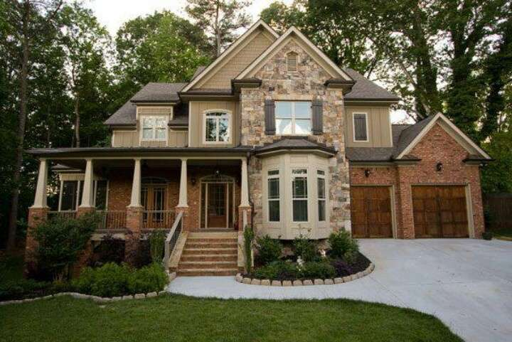 Stone Brick Home Beautiful Homes Interiors Pinterest