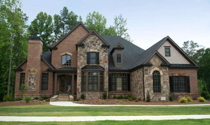 Stone Brick Homes Modern Pedestrian Look Awesome