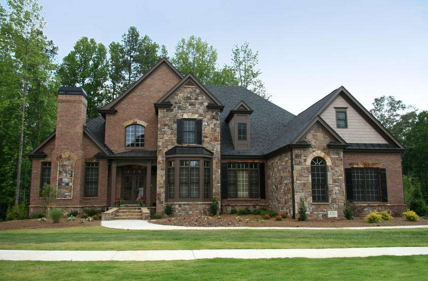 Stone Brick Homes Modern Pedestrian Look Awesome