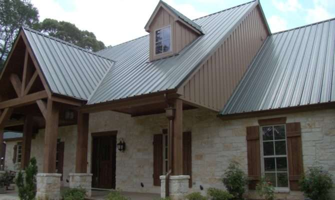 Stone Houses Metal Roofs