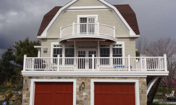 Stone Siding Architecture New England Style Thin Home