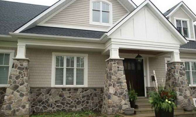 Stone Siding Home Design Fake Exterior Decor