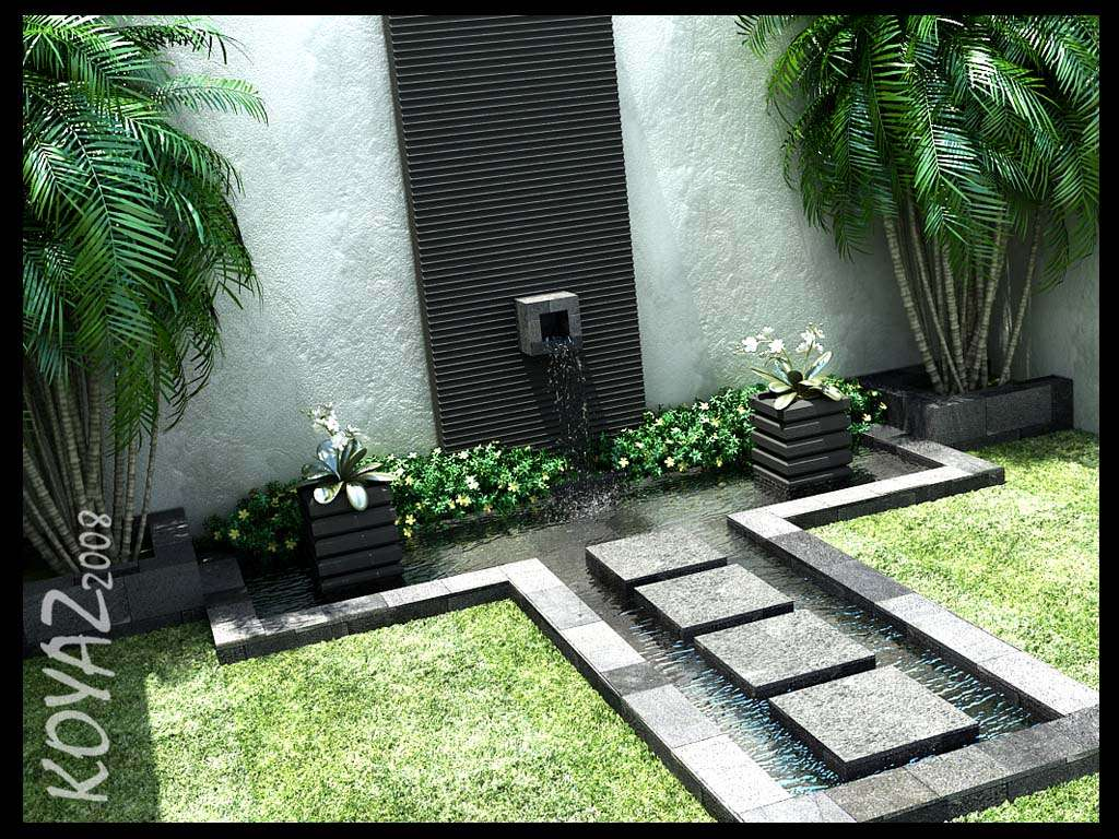 Stone Tribal Water Feature Courtyard Designed Evan Mandala