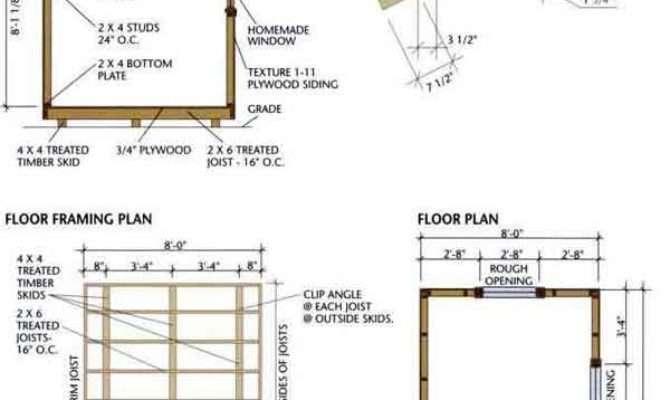 Storage Shed Plans Detailed Blueprints Building
