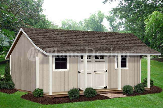 Storage Shed Porch Playhouse Plans