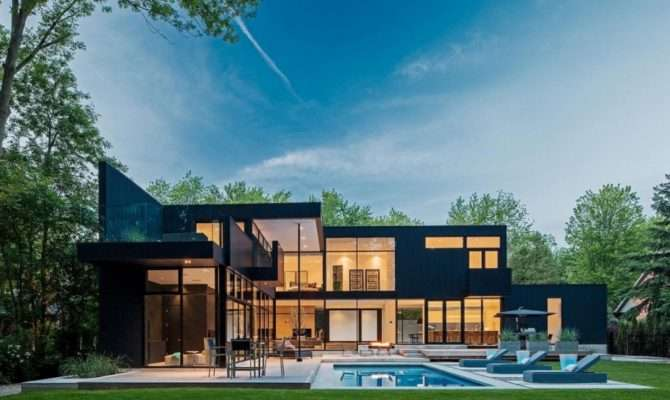 Storey Modern Home Ontario Canada Most Beautiful Houses