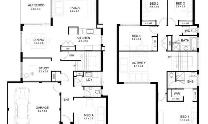 Storey Modern House Designs Floor Plans Awesome
