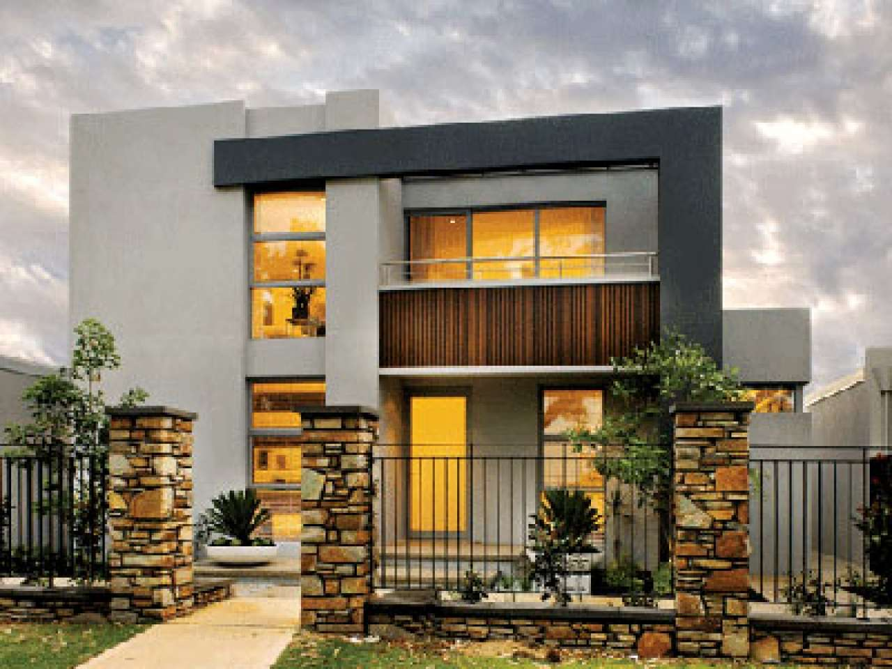 Storey Modern House Designs Floor Plans Tips
