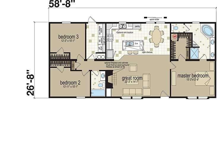 Stories Master Bedroom Great Room Home Office Floor Plans Ideas