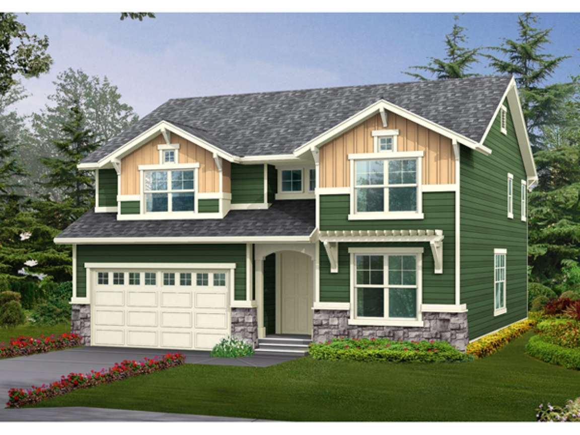 Story Craftsman House Plans One