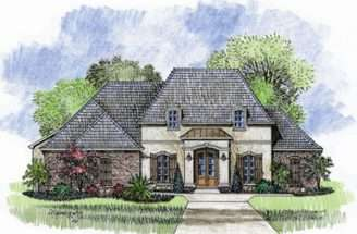 Story French Country Open Floor Plan House Plans