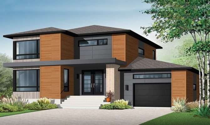 Story House Plans Contemporary Modern Plan