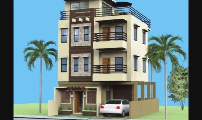 Story House Plans Roof Deck Type Designs Small
