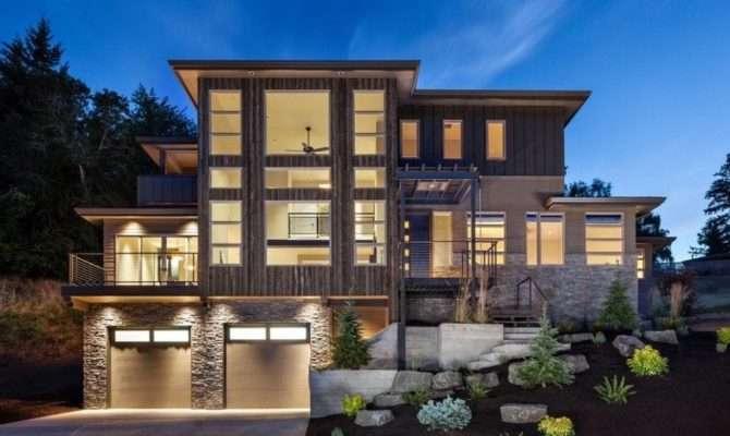 Story Modern House Plans Luxury Three