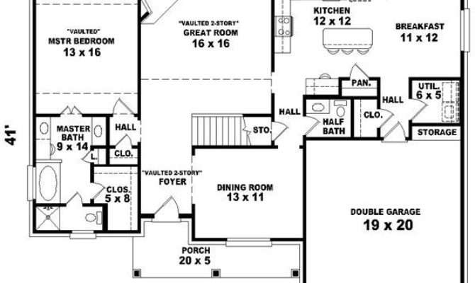 Story Ranch Style House Plans Unique