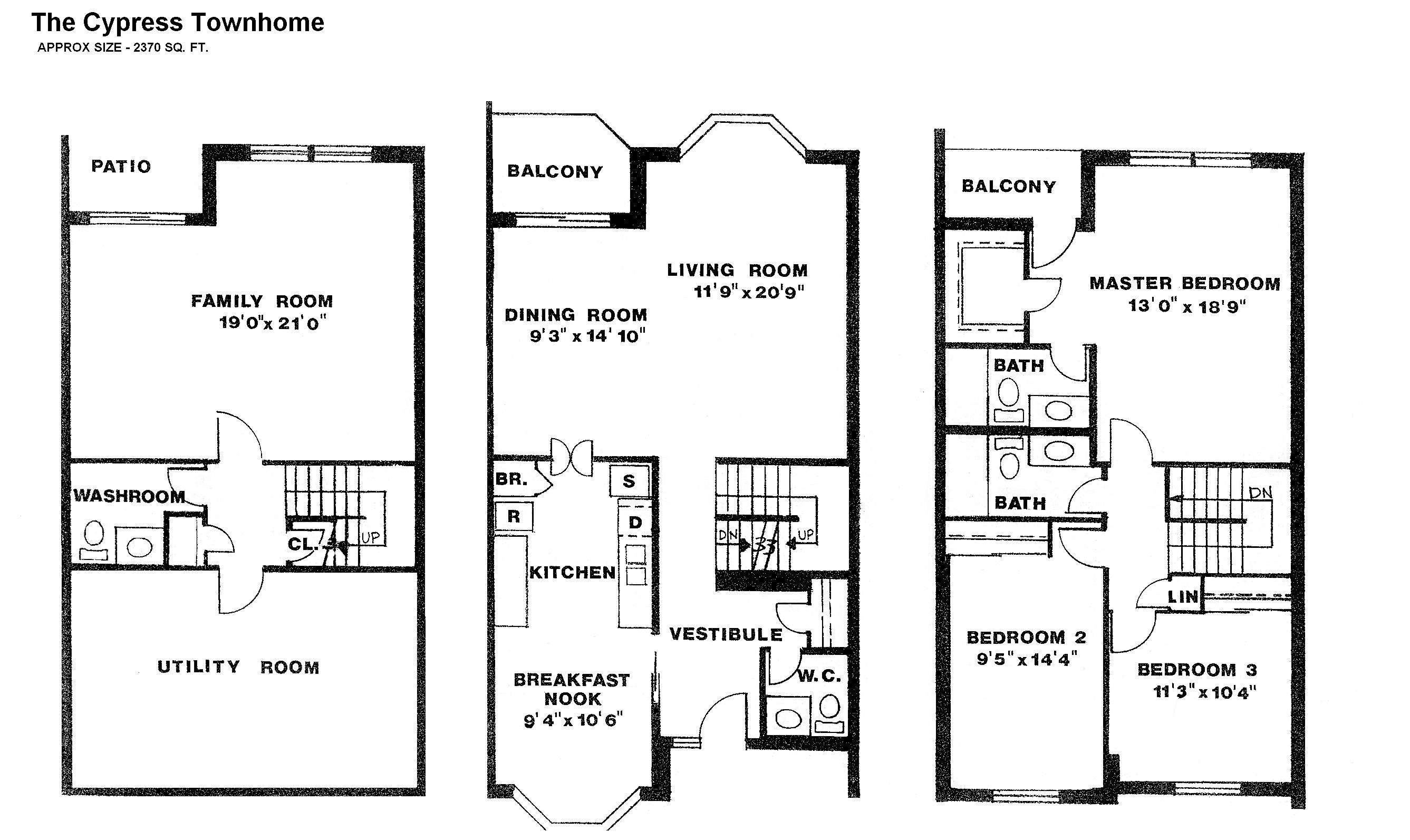 Story Townhouse Floor Plans Drewloholdings Apartments