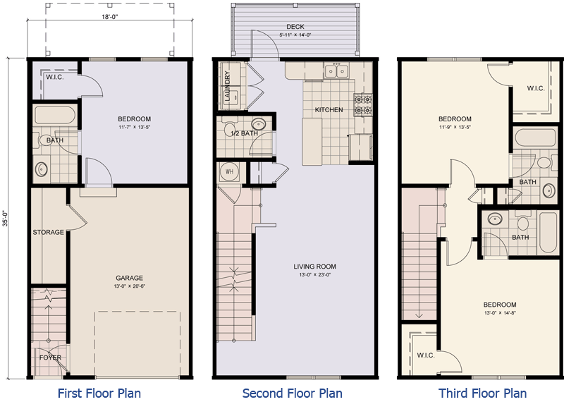 Story Townhouse Floor Plans Galleries Imagekb