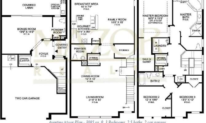 Story Townhouse Floor Plans Three Distinctive