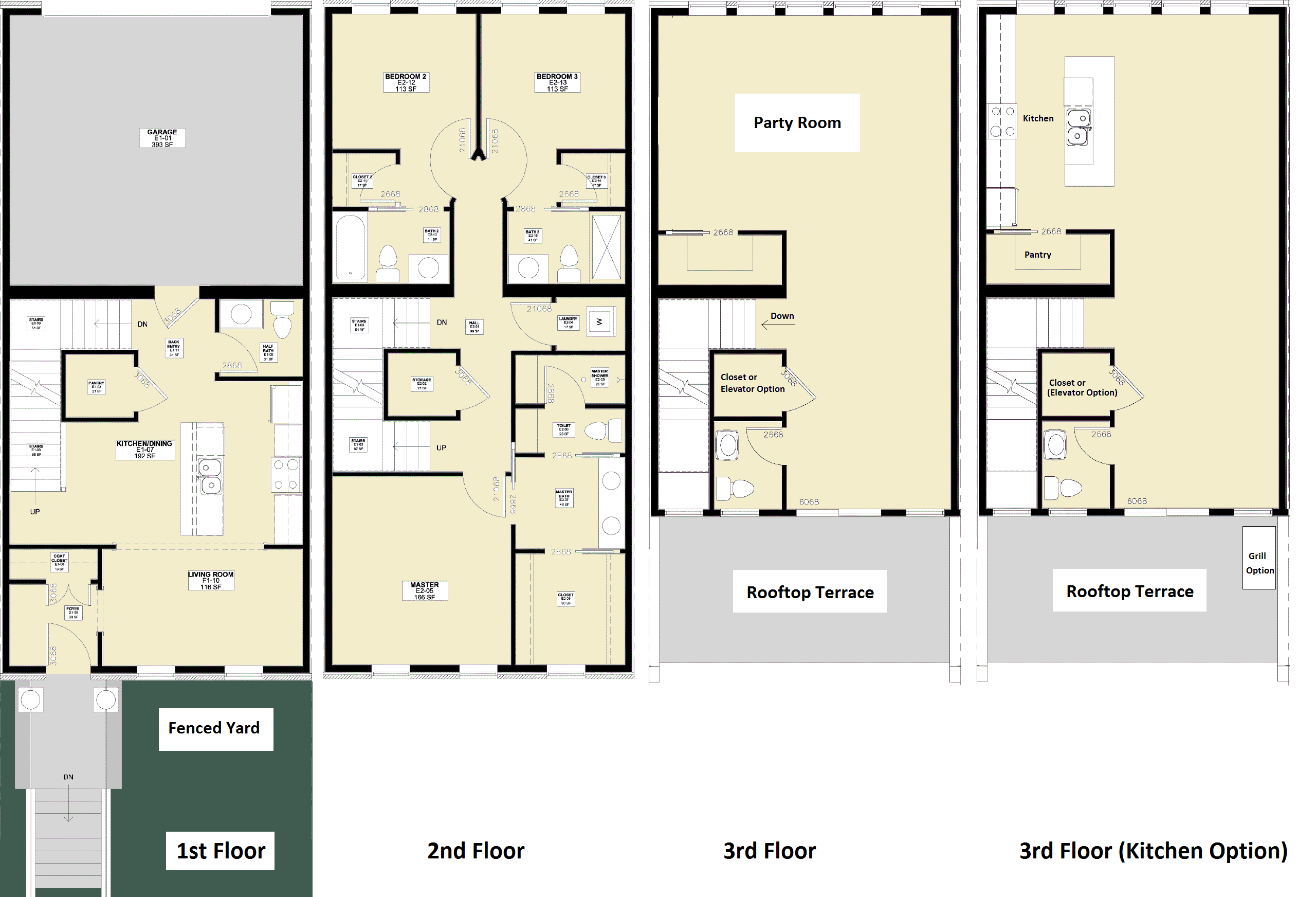 Story Townhouse Floor Plans