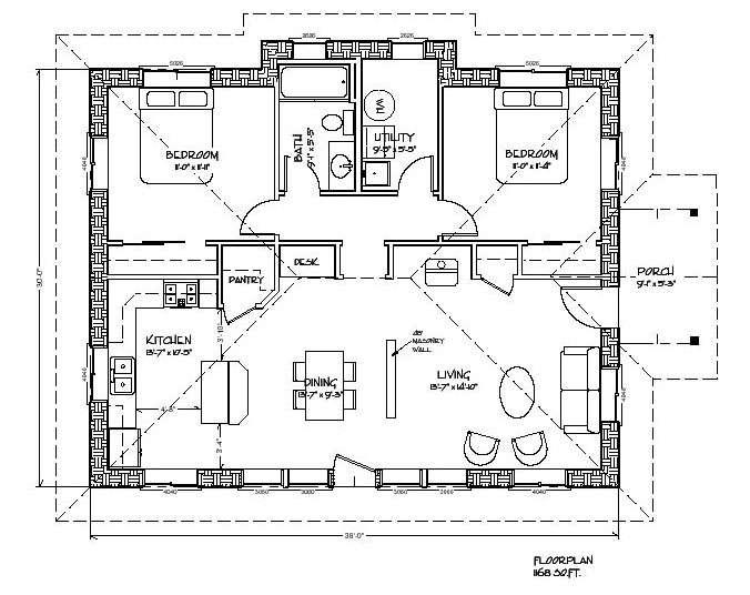 Strawbale Solar Abode Plan