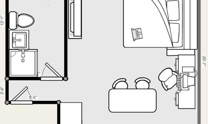Studio Apartment Floor Plan Person Needs