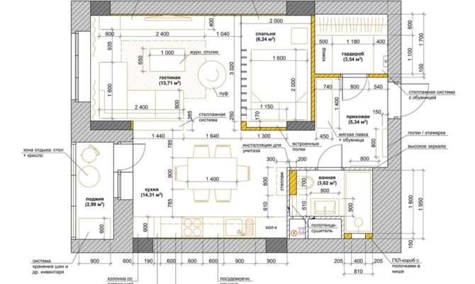 Studio Apartment Layout Interior Design Ideas