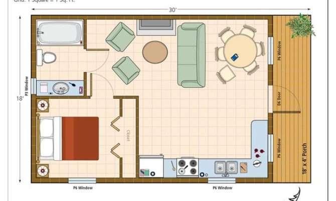 Studio Plan Modern Casita House One Bedroom Guest