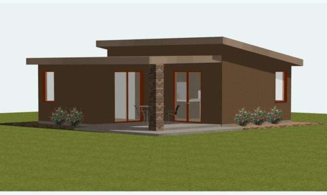 Studio Small House Plan Custom Contemporary