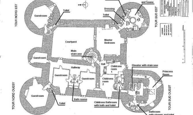 Stunning Castle Blueprints House Plans