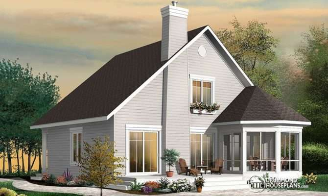 Stunning Frame Bedroom Cottage House Plan