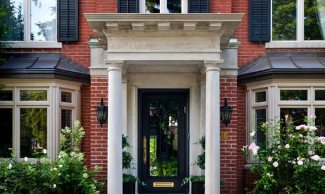 Stunning Front Door Ideas Add Portico Gorgeous