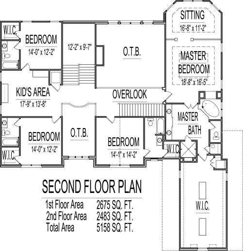 Stunning House Floor Plans Bedroom Story