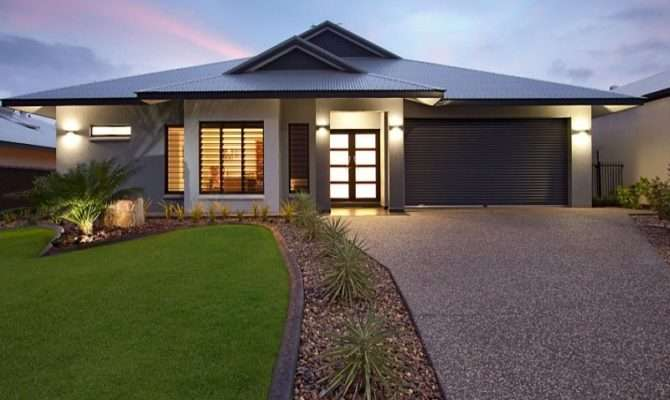Stunning New Home Facade Design Ideas Decoration