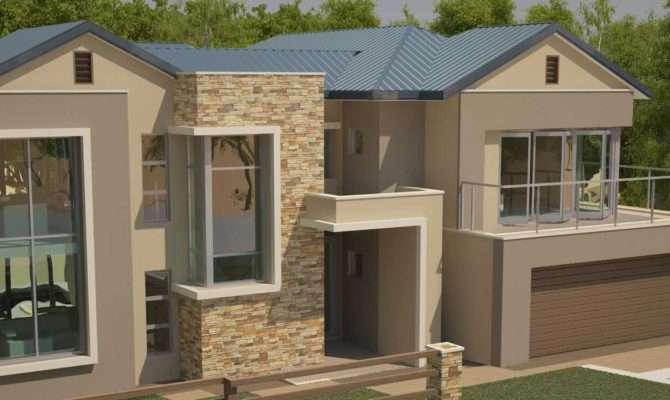 Style House Plans Bedroom Double Storey Floor Modern