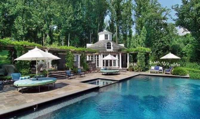 Stylish Home Pool Houses Tennis Pavilions